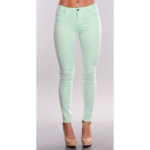 Abercrombie And Fitch Mint Green Pants Size 28 6